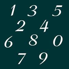 5 cm Zahlen Aufkleber Klebezahlen Ziffern Sticker 1 bis 200 Stück weiß SA-43