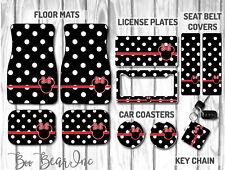 Disney Car Mat Gift Set | Black Polka Dot Minnie Mouse Car Mat