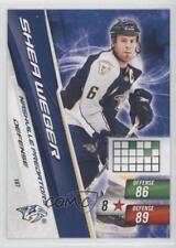 2010-11 Panini Adrenalyn XL #187 Shea Weber Nashville Predators Hockey Card