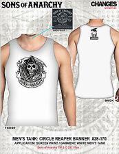 Sons Of Anarchy Soa Circle Reaper Banner Skulls Biker Tank Top T Tee Shirt S-3Xl