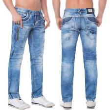 Cipo & Baxx C 1150 Herren Jeans Hose Denim Straight Cut blue blau Zipper Regular
