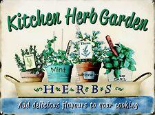 RETRO METAL PLAQUE :Kitchen Herb Garden sign/ad