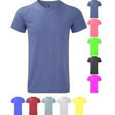 Mens Russell HD Bright Colour Long Length Short Sleeve T Shirt Top