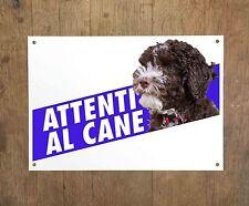 LAGOTTO ROMAGNOLO 1 Attenti al cane Targa cartello metallo Beware dog sign