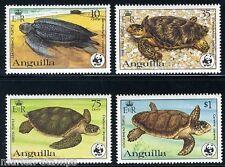 ANGUILLA TURTLES WORLD WILDLIFE FUND SC#537/40 SG#560/68 MINT NH