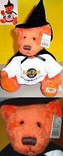 Hard Rock Cafe 1999 HALLOWEEN Orange WITCH Teddy Bear PLUSH (www.hardrock.com)