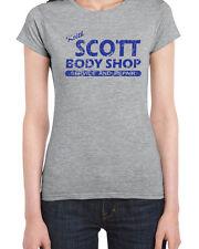 073 Keith Scott women's T-shirt funny body shop tree hill new costume vintage