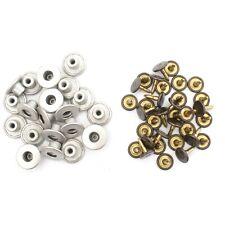 14mm Metal Plata Vaqueros Botón Repuesto Snap con W/o Herramienta de Mano