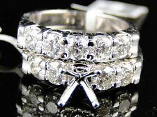 14K Womens White Gold Diamond Wedding Semi Mount Engagement Band Ring 1.80 Ct