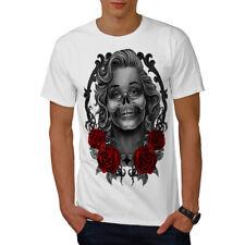 Marilyn Rosas muertos Calavera Camiseta Para Hombres Nuevo   wellcoda