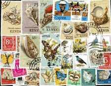 KENYA collections de 25 à 300 timbres différents