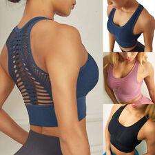 Femme Soutien-gorge Brassière Sport Yoga Sans Armature Lingerie Push Up Gilet