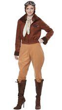 Amelia Earhart Aviator Women's Costume Plane Pilot Historical Pioneer Hero XS-LG