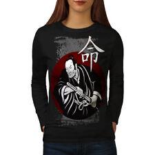Fierce Samurai Look Women Long Sleeve T-shirt NEW | Wellcoda