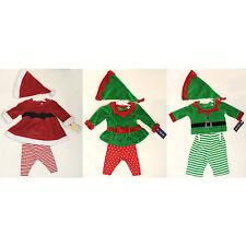 NWT Cherokee Newborn Christmas Santa Helper Elf Outfit Girl Boy Cute Costume 3pc
