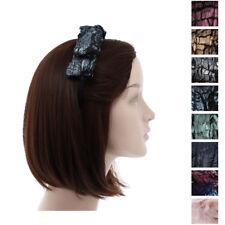 Hard Headband w/Thick Fur Wool Bow Girls Pretty Hair Band w/Teeth Hair Accessory