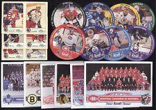 1992-93 KRAFT DINNER TEAM PHOTO + SINGLES & DISCS NHL HOCKEY CARD SEE LIST