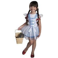 Girls Wizard of Oz Dorothy Costume Blue White Dorthy Fancy Dress Kids Child NEW