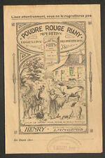 "LANGEAIS (37) POUDRE ROUGE RIANY / Produit VETERINAIRE ""Pharmacien HENRY"" 1924"