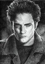 TWILIGHT robert pattinson Edward Cullen A4 A3 or A2 print of drawing Russellart