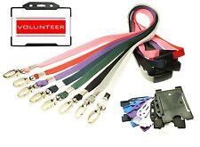 Red de voluntarios de tarjeta de identidad con Cuerda + Id Card Holder-elección de colores
