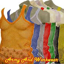 Mens Long Rasta Vest Mesh Net String Fishnet Rastafarian Muscle Tank Top Cotton