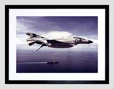 Military Air Plane jet da caccia f4j PHANTOM NAVY USAF Framed Art Print b12x3586