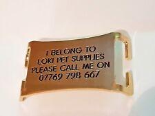 Latón Easy Fit Agilidad Collar de perro Placa