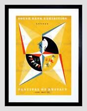 Vintage publicité exposition festival de la grande-bretagne 1951 encadrée art print mount B12X11498