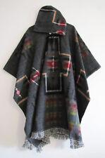Llama Poncho Hood Wool Gray Coat Mens Cape Indigenous Native Navajo - Ecuador