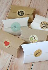 No Glue Pillow Boxes 5pc rustic DIY wedding favour packaging gift Kraft card box