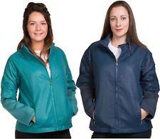 Ladies PU Jacket Leather Look Stand Collar Zipper Funnel neck outdoor Blue Coat