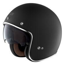 HX 77 Chopper Helm Jethelm Motorradhelm Biker Jet Motorrad Helm matt schwarz