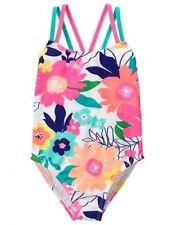 NWT Gymboree Girl Neon Flower swimsuit 1 pc SZ 5/6,7/8,10/12
