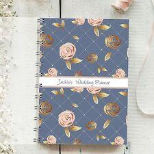 Planificador de boda Personalizado BLUSH ROSE, 4 años diario mensual Novia a Ser Regalo