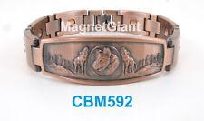 Wolf - Men Copper link high power magnetic bracelet CBM592 animal