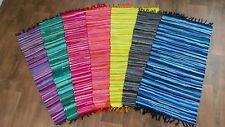 Fleckerl Handwebteppich Fleckerlteppich 7 Farben ca. 70x140cm Multi