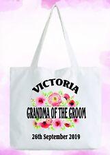 Grandma Bräutigam Personalisiert Weiß Tragetasche Hochzeitsgeschenk Hinzufügen