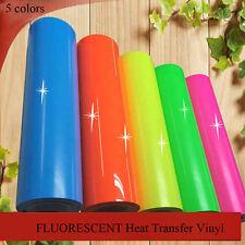 FLUORESCENT NEON FLEX T-SHIRT VINYL HEAT PRESS VINYL TRANSFER PAPER for 5 Colors