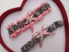 NEW Mossy Oak Camouflage Camo Baby Pink Lt Pink Wedding Garter *Hunter *Chick
