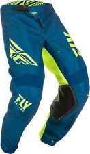 Fly Racing Mens Navy Blue/Hi-Vis Kinetic Shield Dirt Bike Pants ATV UTV MX