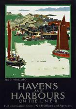 TT90 Vintage Havens & Harbours Mallaig LNER Railway Travel Poster A3 A2