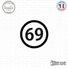 Sticker Département 69 Rhône Auvergne Rhône Alpes Lyon Decal Aufkleber Pegatinas
