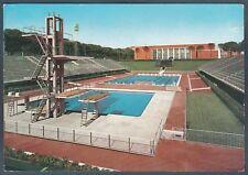 ROMA CITTÀ 05 STADIO NUOTO 01 PISCINA IMPIANTI SPORTIVI Cartolina viagg. 1964