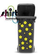 A 1023 - Blumen  Blume Mülltonne Mülleimer Aufkleber Mülltonnenaufkleber Sticker