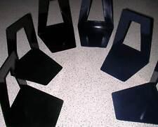 20 Stück Buchstütze Buchstützen Buchständer Katalogstütze CD-Ständer - schwarz
