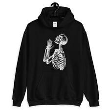 Skeleton Prayer Hoodie - Hoody Men S-3XL - Scary Spooky Skull Goth Heavy Metal