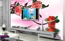 3D fiore creativo Parete Murale Foto Carta da parati immagine sfondo muro stampa