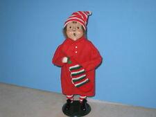 Byers Choice 1989 Pajama Boy with Stocking New