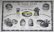 PUBLICITE ANCIENNE 1925 AU BEBE ROSE DENOUILLE CHOCOLATIER CONFISEUR CHOCOLAT AD